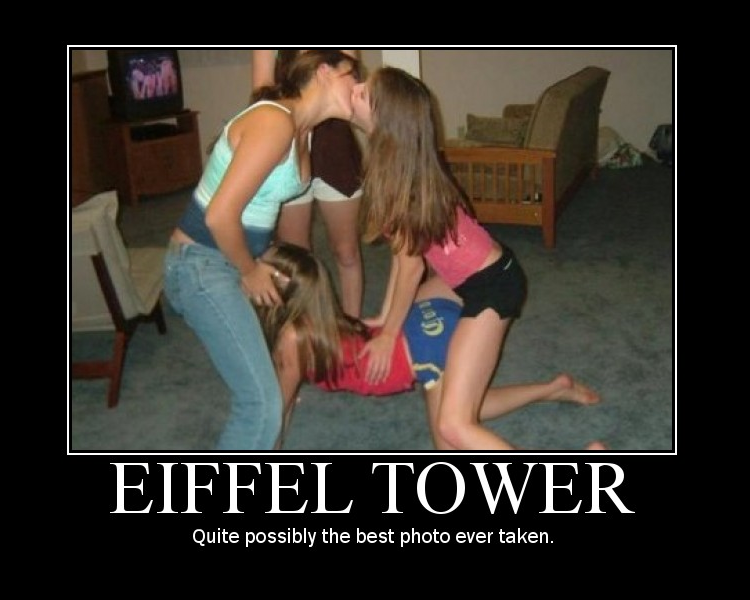 Getting eiffel towered girl
